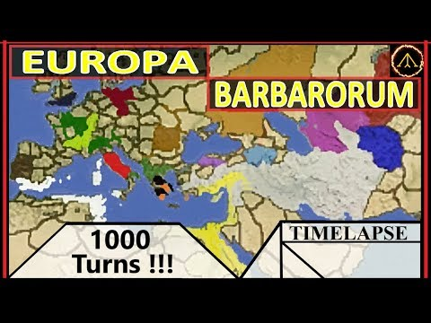 Europa Barbarorum TIMELAPSE: Rome Total War - 1000 Turns! #100