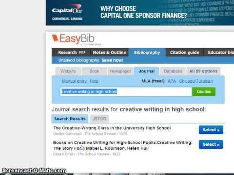 AutoCite JSTOR Articles on EasyBib