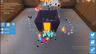 Limpando Dungeon com DefildPlays | Roblox unboxing Simulator