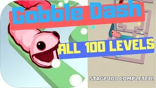 🤪GOBBLE DASH🐍ALL 100 LEVELS🔥by Voodoo🚶♂️WalkThrough(iOS)