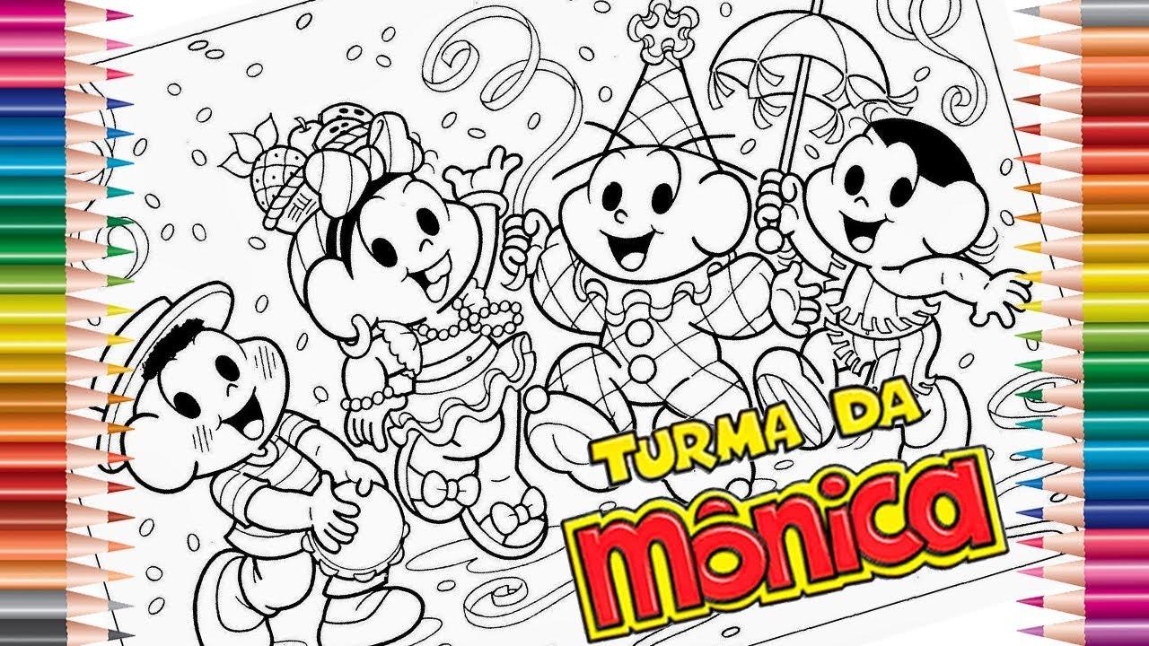 Turma Da Monica Desenhos Para Colorir Desenho Infantil Como