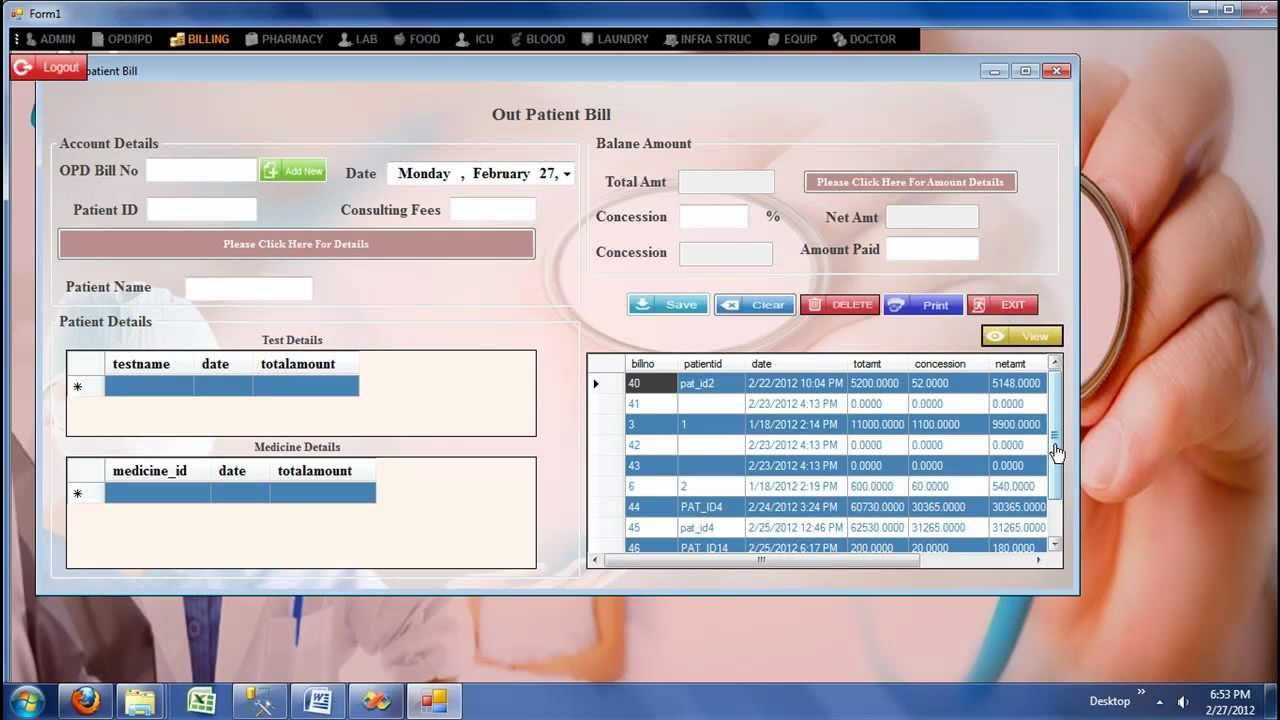 Hospital Management System -Billing Module_ icon info solutions ...