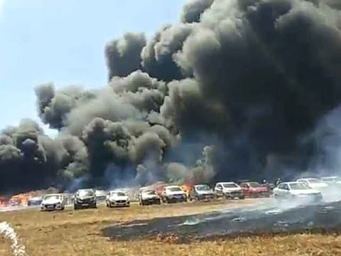 Fire in Aero India 2019 show at Bengaluru, nearly 20 cars gutted