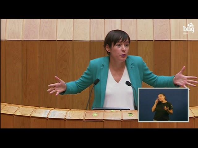 Ana Pontón defende o modelo de concerto para Galiza no Parlamento Galego