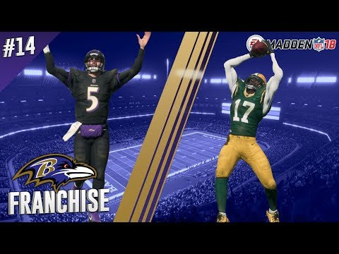Tale Of Two Halves | @ Packers (S1,G10) | Madden NFL 18 Baltimore Ravens Franchise Ep. 14