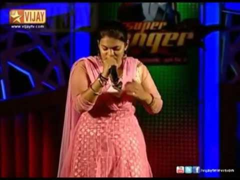 Madhumitha Shankar singing Vasanthathil Or Naal - Super Singer 4