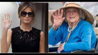 MELANIA ATTENDS BARBARA BUSH SERVICES WITHOUT POTUS AS SCARY EVENT ROCKS FUNERAL