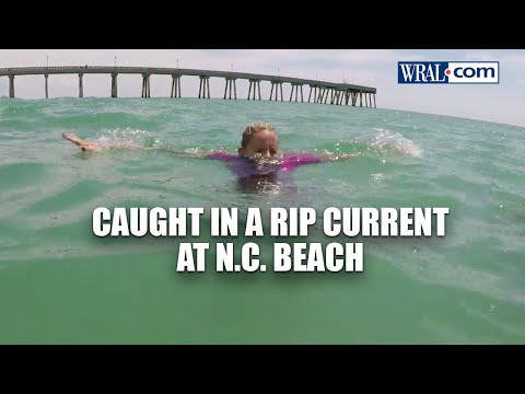 GOPro video: Caught in a rip current at NC beach | WRAL News