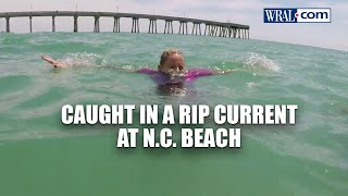 GOPro video: Caught iฑ a rip current at NC beach   WRAL News