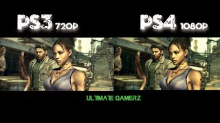 Resident Evil 5 Remastered (PS4) Vs Resident Evil 5 (PS3) Graphics Comparison 1080PHD