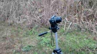 タイムラプス機能がないデジタルカメラでのタイムラプス撮影風景。カメラ【CANON PowerShot SX710HS】、三脚、スマホを使っています。