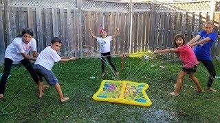 Tug Of War Slime Pit Challenge HZHtube Kids Fun vs Sisters Fun Tube