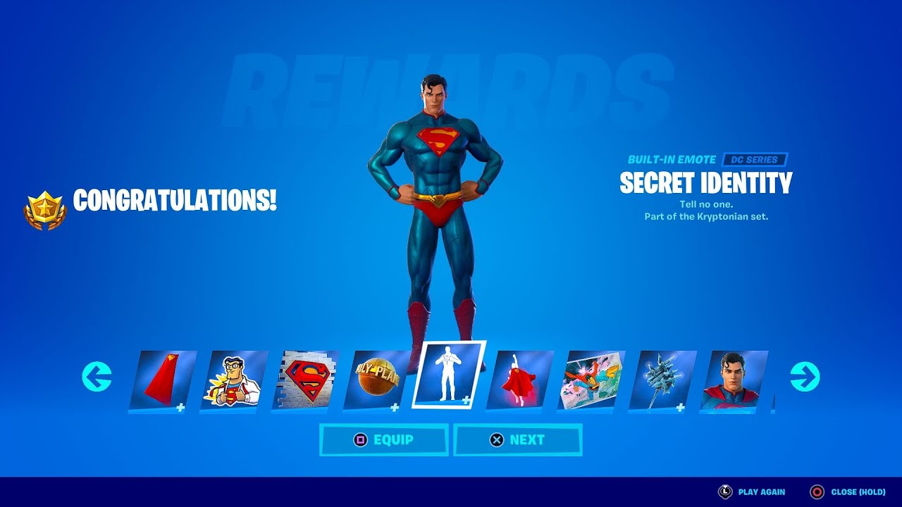 unlocking superman skin in fortnite