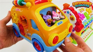School Bus Learning Toy for Toddlers with Toy House!