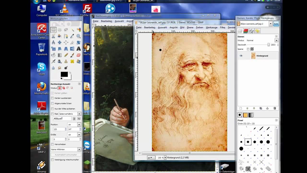 GIMP 2.8 - Bilder einfügen - YouTube