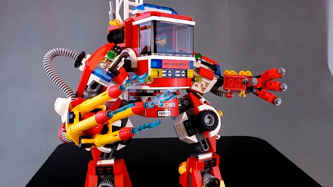 70813 Lego Movie Rescue Reinforcements Fire Mech Review Youtube