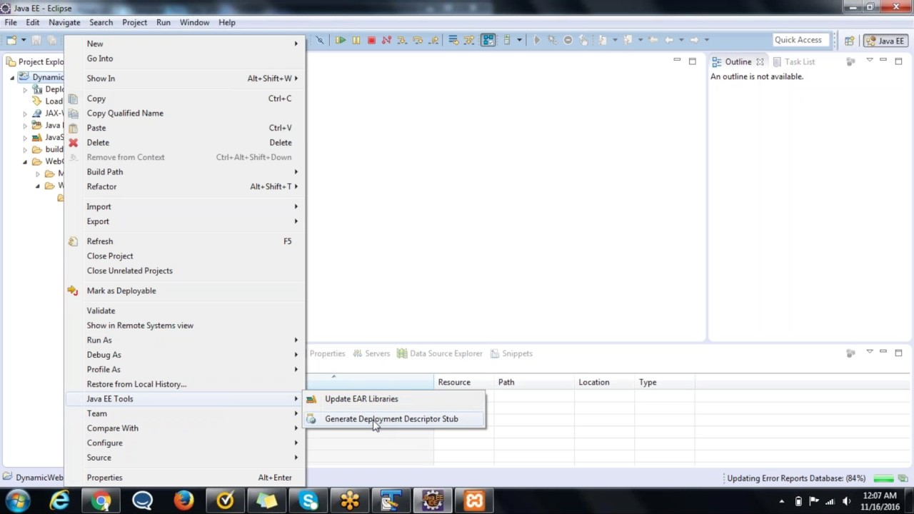 How to generate missing web xml file using eclipse