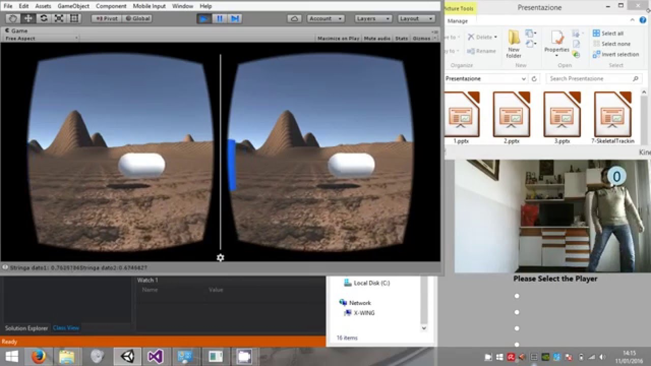 Demo Kinect - Google Cardboard Wifi Interface with Unity Plugin