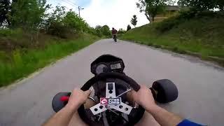 Guy Races Go Kart Through Neighborhood Streets - 986827-1