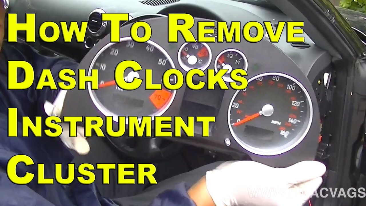 Audi tt dash clock instrument cluster removal simple easy steps youtube
