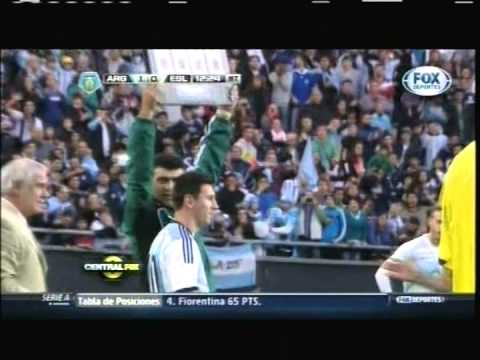 2014 (June 7) Argentina 2- Slovenia 0 (Friendly)