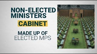 Can non-elected Canadians be in cabinet?