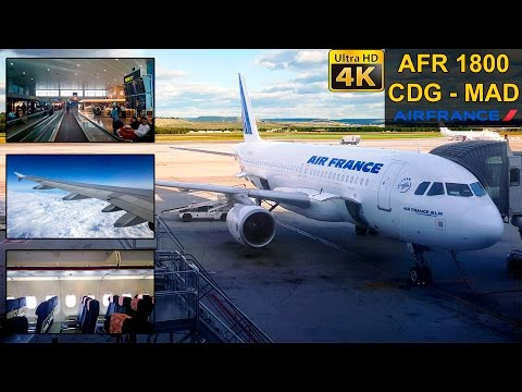 Flight Experience ✈ Paris CDG - Madrid ✈ AIR FRANCE Full Flight