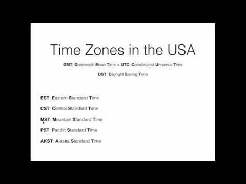 United States Time Zones Part 1