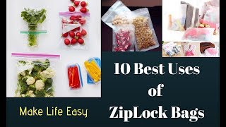 ZipLock_Bags #10_ZipLock_Bag_uses #ZipLock_Bags_tricks Hello Viewers, welcome to my channel. In this video I show 10 best uses of ziplock bags in our ...