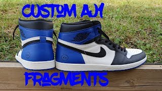 CUSTOM AIR JORDAN 1 FRAGMENTS WITH ONLY 1 PAINT
