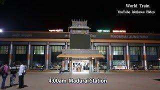 Worldi train-インド・マドゥライ~ナーガルコイル寝台列車 India sleeper train