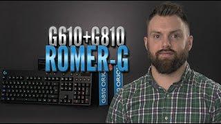Romer-G vs Cherry MX - Logitech G610 & G810 Orion Spectrum [4K50p]