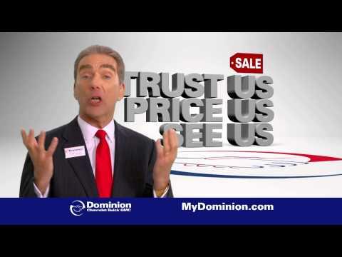 """Dominion Chevrolet - Silverado """"Trust Us. Price Us. See Us."""" Sale."""