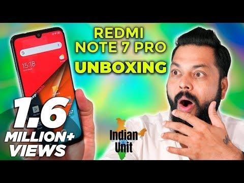 Redmi Note 7 Pro India Unit Unboxing & First Impressions ⚡ ये  १००% मार्केट तोड़ेगा!!