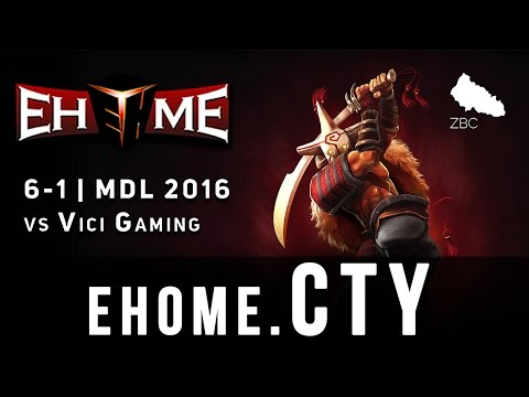EHOME.Cty Juggernaut 17min win vs Vici Gaming | MDL Winter 2016 | Gameplay
