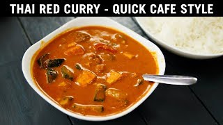 Thai Red Curry - CAFE Style - AUTHENTIC TASTE Easily Recipe - CookingShooking