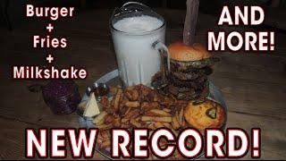 Smoke Barbecue Burger Challenge RECORD!!