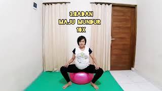 Olahraga Ibu Hamil dengan Gym Ball at 39 weeks Pregnancy
