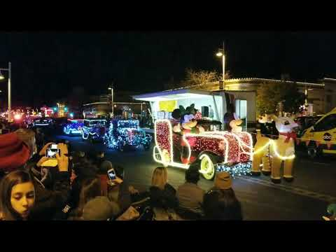"""""""Twinkle Light Parade"""" in Nob Hill area in Albuquerque, NM, 2017"""