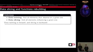 REcon 2014 - DRM Obfuscation Versus Auxiliary Attacks (Camille Mougey  & Francis Gabriel)