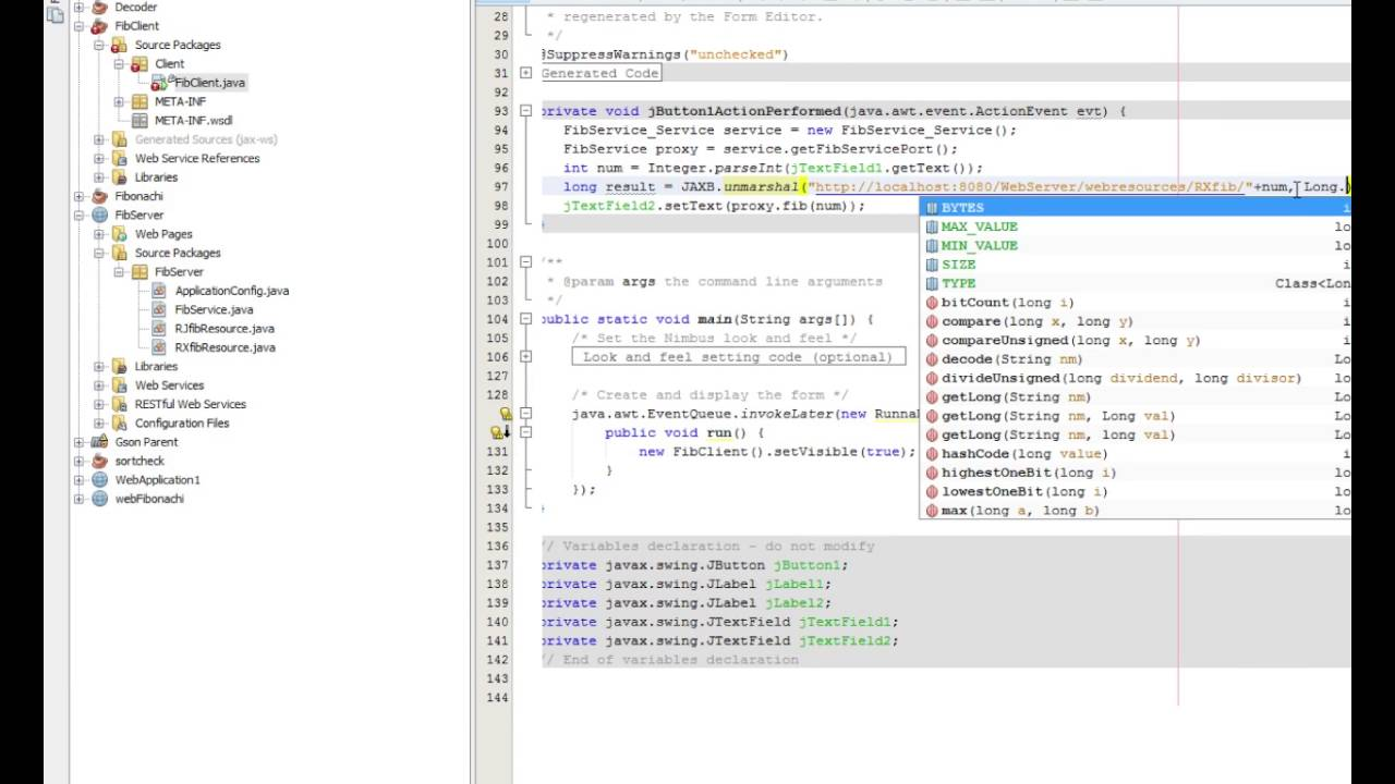 How to consume A REST web service in netBeans (xml)