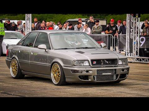 700HP Audi 90 S2 Quattro Vs 560HP BMW M2 Competition @ RACE1000 1/2 Mile Drag Race