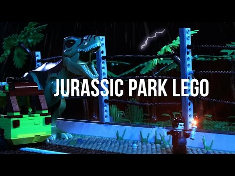 Father and daughter recreated Jurassic Park with $100,000 worth of Lego