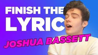 Joshua Bassett Covers Olivia Rodrigo, Shawn Mendes & More   Finish The Lyric   Capital