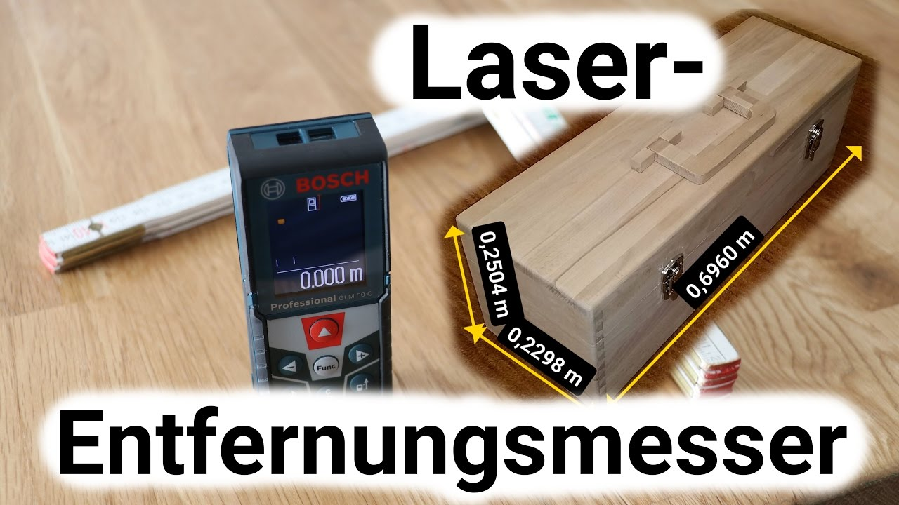Laser entfernungsmesser unboxing und review bosch professional glm