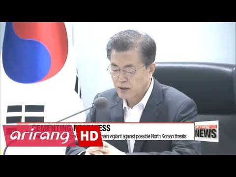 President Moon urges gov't officials to remain vigilant against possible North Korean threats
