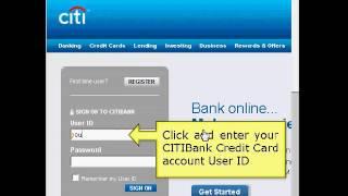 Citibank Online Login Tutorial