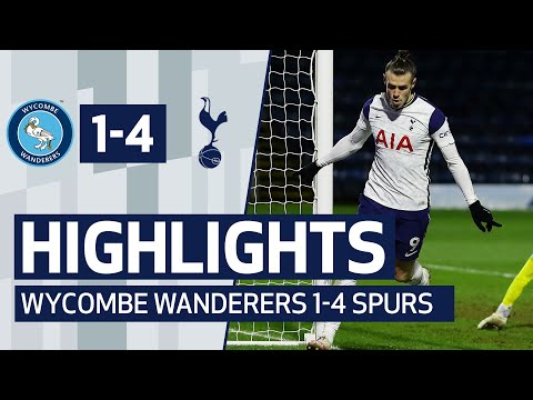LATE GOAL FLURRY SECURES SPURS SPOT IN NEXT ROUND | HIGHLIGHTS | WYCOMBE 1-4 SPURS |