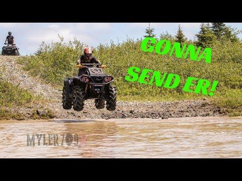 Can-am XMR - Gonna send errr!   Modded atv's new trail exploring! Yamaha Polaris Mud machines.