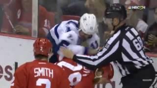 Ott Lands Hard Hit on Cedric Paquette Tampa Bay Lightning vs Detroit Red Winds 11/15/16